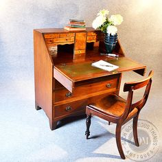 Antique Georgian Bureau Large English Fall by SuchGorgeousThings, £795.00