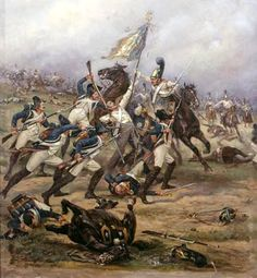 Austerlitz 1805 French infantry fight to hold onto their colors.