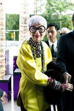 Iris Apfel, Presenter for Accessory Designer of the Year
