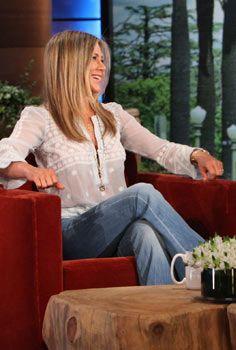 Jennifer Aniston The Ellen DeGeneres Show April 17 2013 #celebrityfashion