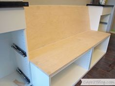 Uses Ikea cabinets to make it and great step by step on how to build it. DIY Built-in Banquette | Cape27Blog.com