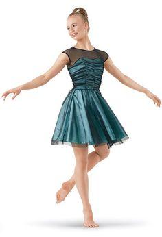 Weissman™ | Polka Dot Illusion Mesh Day Dress