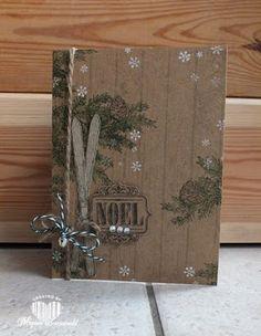 Magical Scrapworld: Stampin' Up!, Christmas card, winter wishes, hardwood, wonderland