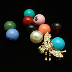 Joan Rivers Insect Pin with 10 Interchangeable Beads