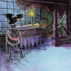 Haunted Mansion Coffin, iPad Background