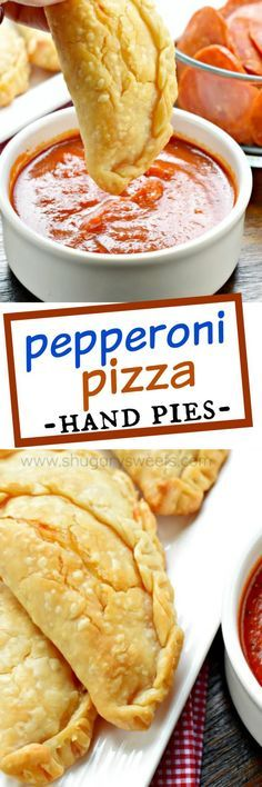 Pepperoni Pizza Hand Pies | Shugary Sweets | Flaky pie crust filled with pepperoni and cheese. These baked Pepperoni Pizza Hand Pies are ready in minutes and make a great meal!
