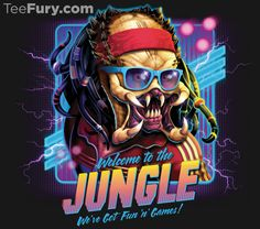 """Welcome To The Jungle"" by #RockyDavies is available now. Get yours here: http://www.teefury.com/?utm_source=pinterest&utm_medium=referral&utm_content=welcometothejungle&utm_campaign=organicpost?&c3ch=Social&c3nid=Pinterest"