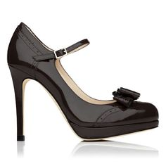 Dawn Mary Jane Patent Leather Court Shoe