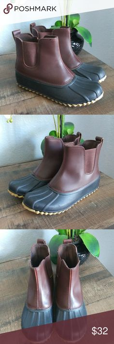 J Crew Leather Chelsea Boots
