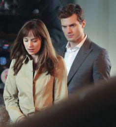 Christian And Ana (on set)