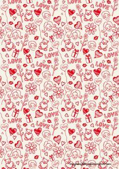 papel de corazones para imprimir-Imagenes y dibujos para imprimir