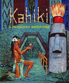 Kahiki Polynesian Restaurant, Columbus, Ohio - Pamphlet ~~ Courtesy of It 's Better Than Bad. Tiki Hawaii, Hawaiian Tiki, Blue Hawaii, Tiki Man, Tiki Tiki, Vintage Cocktails, Vintage Tiki, Vintage Travel, Tiki Decor