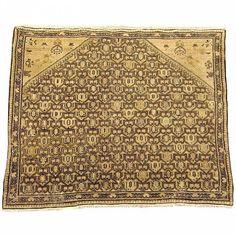 "Persian: Geometric 3' 1"" x 3' 9"" Antique Persian Seneh at Persian Gallery New York - Antique Decorative Carpets & Period Tapestries"