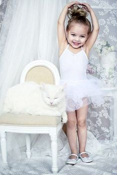 #danseuse #étoile #sport #bébé #tutu #chignon #blanc