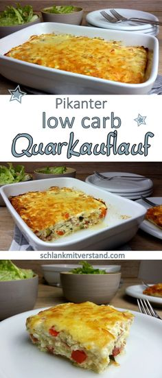 Spicy curd cheese low carb- Pikanter Quarkauflauf low carb Spicy low carb curd cheese bake I love these quick recipes. You can also use great leftovers for this protein-rich curd bake. Instead of peppers and zucchini, we also like to use tom … - Spicy Recipes, Low Carb Recipes, Beef Recipes, Healthy Recipes, Quark Recipes, Dessert Recipes, Fast Low Carb, Low Carb Diet, Law Carb