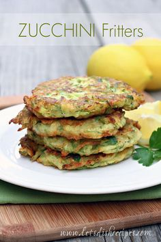 Zucchini fritters with lemon