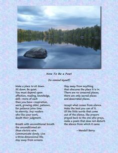 With gratitude to Parker Palmer for posting this beautiful poem by Wendell Berry.