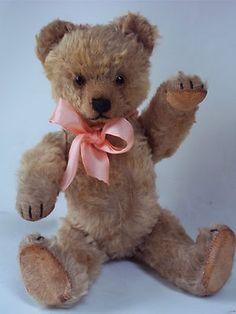 """Yes~ No Vintage Schuco 12"""" Teddy bear ....Such a sweet sweet face. Photo an Ebay........"""