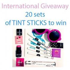 20 sets of TINT STICKS to win ^_^ http://www.pintalabios.info/en/fashion-giveaways/view/en/3469 #International #Cosmetic #bbloggers #Giweaway