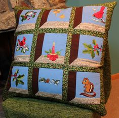 Attic Windows Pillow. Got to make this.. Would make a beautiful quilt..