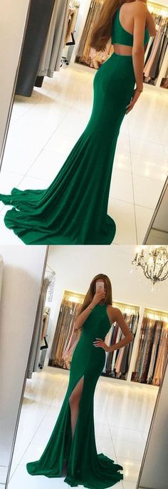 Prom Dresses Simple, green mermaid backless prom dresses long sexy dress ML13020 by moonlight, $132.44 USD