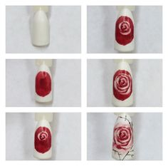 Modern Nail Art Designs that Are Too Cute to Resist Art Rose, Rose Nail Art, Floral Nail Art, Rose Nails, Flower Nails, Pedicure Nail Art, Gel Nail Art, Nail Art Diy, Diy Nails