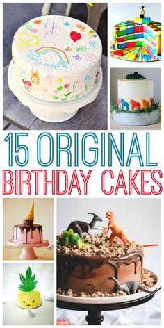 No more run-of-the-mill cakes for you! These are sure to get your imagination up and running.