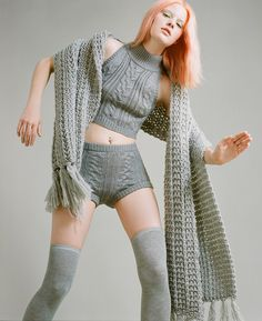 Warm it up with cold weather essentials. Nasty Gals Do Winter Better. Warm it up with cold weather essentials. Nasty Gals Do Winter Better. Knit Fashion, Fashion Outfits, Womens Fashion, Fashion 2014, Sweater And Shorts, Cable Sweater, Cold Weather Fashion, Crochet Girls, Wrap Coat
