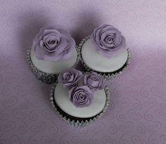 Lilac Rose Cupcakes   Flickr - Photo Sharing!