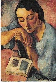 Retrado de Matilde, 1932 Menina a ler Meninas sentadas lendo As meninas a aprender Selfportrait, 1927 Sarah Affonso ...