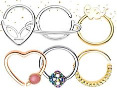 Four Things To Consider When Shopping For Inspirational Bracelets Septum Nose Rings, Fake Nose Rings, Septum Jewelry, Geek Jewelry, Jewelry Shop, Handmade Jewelry, Nose Piercings, Daith Piercing, Wholesale Body Jewelry
