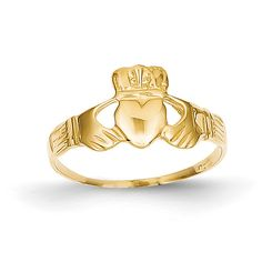 14k Ladies Claddagh Ring D3108