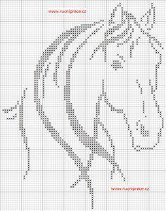 free counted cross stitch chart horse 76 by 97 stitches via http://free-cross-stitch.rucniprace.cz/horse-2-cross-stitch.php