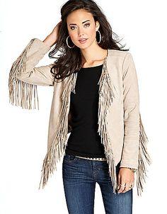Women's | Coats & Jackets | Long-Sleeve Fringe Jacket | Hudson's Bay