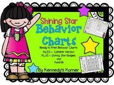 Shining STAR Behavior Charts to meet the needs of your students. - EDITABLE Version !!  Also included are Brag tags - Awards - Certificates - and Brag Bracelets for you students to wear.  Use these to help you students feel good about their behavior.  These are a great way to promote positive behavior and academics at school!