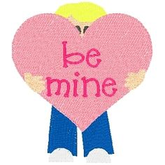 Be Mine Boy - 4x4 | Words and Phrases | Machine Embroidery Designs | SWAKembroidery.com Band to Bow