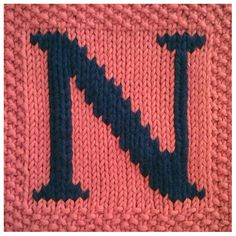 PDF Knitting pattern capital letter N afghan / by FionaKelly, $2.00