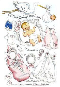 Бумажные куклы - ретро | МАМА И МАЛЫШ