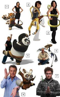 Dubladores americanos de Kung Fu Panda. : No elenco de dublagem estão Jack Black (King Kong), Angelina Jolie (Sr. e Sra. Smith), Dustin Hoffman (Entrando Numa Fria maior Ainda), Lucy Liu (Kill Bill) e Jackie Chan (A Hora do Rush). Descubram quem é o personagem que tem a voz do Ikki de Fênix (Leonardo Camilo)...    taxishido01