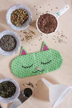 DIY Aromatherapy 'Cat Nap' Eye Pillows + Free Sewing Pattern