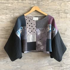 Renee Patchwork Crop / One of a Kind / OS — Susan Eastman Sewing Clothes, Diy Clothes, Kimono Fashion, Love Fashion, Mode Top, Patchwork Dress, Piece Of Clothing, Minimal Fashion, Refashion