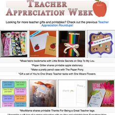 15 DIY teacher appreciation project tutorials. Many complete with printables!