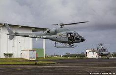 Eurocopter (formerly Aérospatiale) AS550 Fennec of French Armée de l'Air,at base aérienne 367 « capitaine François Massé »,at Cayenne,in Guyana,South America.