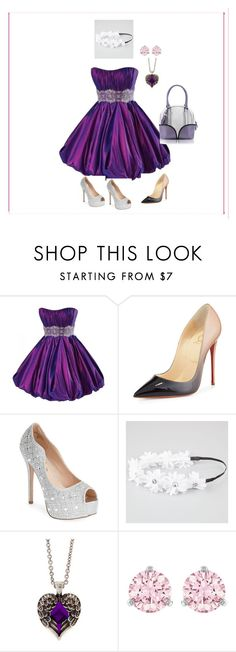 """leptirić-9"" by nihada-niky ❤ liked on Polyvore featuring Maggie Sottero, Christian Louboutin, Lauren Lorraine, Full Tilt, claire's, Swarovski and Pineider"