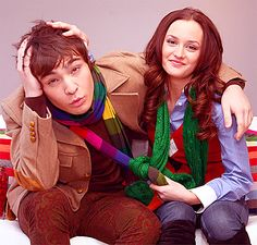 Leigthon Meester and Ed Westwick in Gossip Girl Watch Gossip Girl, Mode Gossip Girl, Gossip Girl Outfits, Gossip Girls, Leighton Meester, The Cw, Gossip Girl Quotes, Chuck Blair, Tv Couples