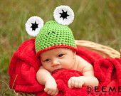 Frog Hat Newborn Photo Prop
