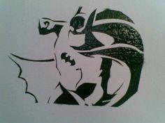 Batman stencil