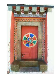 mandala door by Shirley Two Feathers, via Flickr