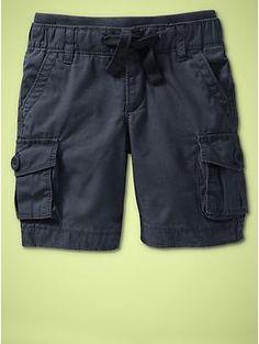 Knit-waist cargo shorts