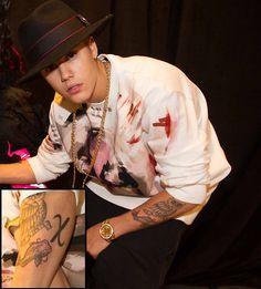 Justin Bieber's New Good Luck Tattoo 'Koi Fish'